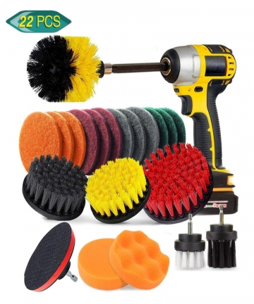 22PCs-Electric-Drill-Brush-Set-Scrub-Pads-Sponge-Power-Scrubber-Brush-Cleaning-Kit-with-Scrub-Pads-Drill-bit-Extender-4000576169