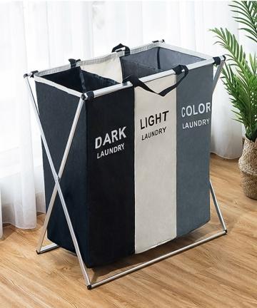 X-Shape-Foldable-Dirty-Laundry-Basket-Organizer-Printed-Collapsible-Three-Grid-Home-Laundry-Hamper-Sorter-Laundry-Basket-Large-4