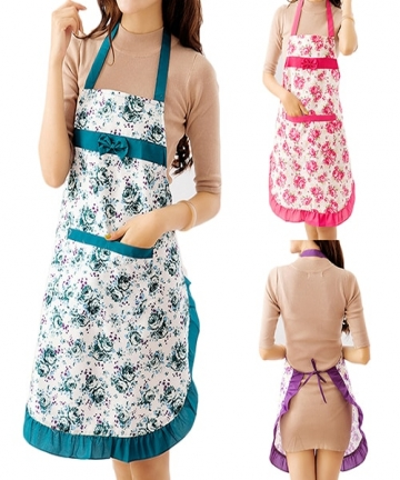 Women-Lady-Floral-Cloth-Apron-For-Restaurant-Home-Kitchen-Cooking-BBQ-With-Pocket-Waist-Bib-Women-Apron-4000894870890