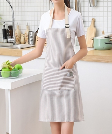 Fashion-Simple-SmallFresh-Stripe-Kitchen-Antifoul-Apron-Pinafore-Woman-Cooking-Accessories-Cafe-Restaurant-Flower-Shop-Overalls-