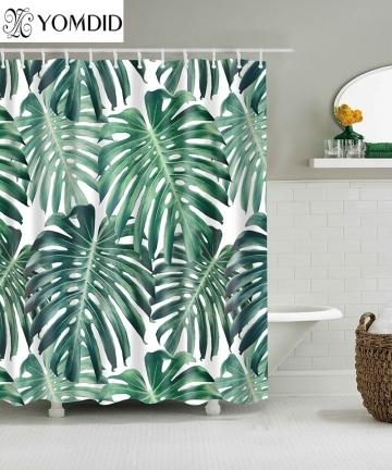 Green-Tropical-Plants-Shower-Curtains-Bathroom-Polyester-Waterproof-Shower-Curtain-Leaves-Printing-Curtains-for-Bathroom-Shower-
