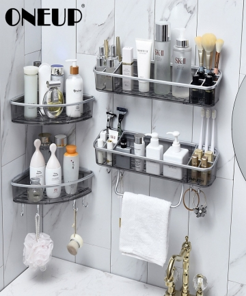 ONEUP-Drainable-Bathroom-Shelf-Cosmetic-Towel-Storage-Rack-With-Hooks-Wall-Shower-Corner-Shelf-Organizer-Bathroom-Accessories-40