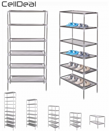 CellDeal-246810-Tiers-Non-Woven-Fabric-Dustproof-Shoe-Rack-Storage-Organizer-Cover-Cabinet-Shelf-Cabinet-612182430-Pairs-3303792