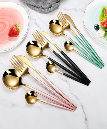 4Pcsset-Black-Gold-Cutlery-Set-1810-Stainless-Steel-Dinnerware-Silverware-Flatware-Set-Dinner-Knife-Fork-Spoon-Dropshipping-4000