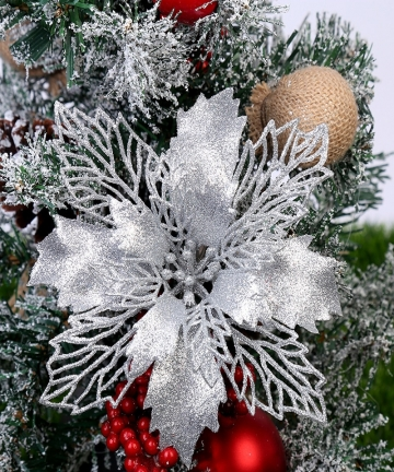 5pcs-9-16cm-Glitter-Artifical-Christmas-Flowers-Christmas-Tree-Decorations-for-Home-Fake-Flowers-Xmas-Ornaments-New-Year-Decor-1