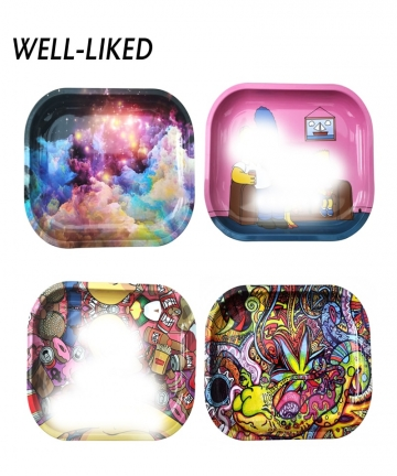 2020-NEW-Cartoon-Rolling-Tray-1814CM-Tobacco-Rolling-Tray-Metal-Cigarette-Smoking-Rolling-Tray-Herb-Tobacco-Tinplate-Plate-40012
