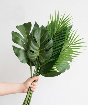 One-Piece-monstera-artificial-plants-plastic-tropical-palm-tree-leaves-home-garden-decoration-accessories-Photography-Decorative