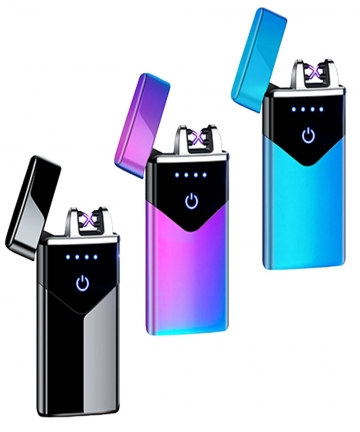 2021-Dual-Arc-USB-Electric-Lighter-LED-ScreenTouch-Fire-Plasma-Arc-Cigarette-Lighter-Windproof-Metal-Novelty-Lighter-Mens-Gift-4
