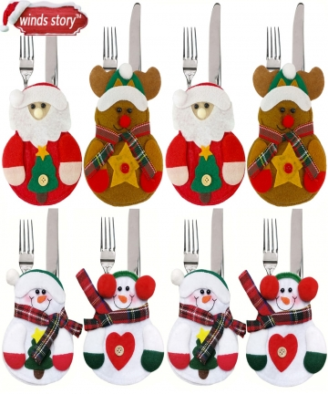 8pcs-Christmas-Decorations-Snowman-Kitchen-Tableware-Holder-bag-Party-gift-Xmas-ornament-Christmas-decorations-for-home-table-32