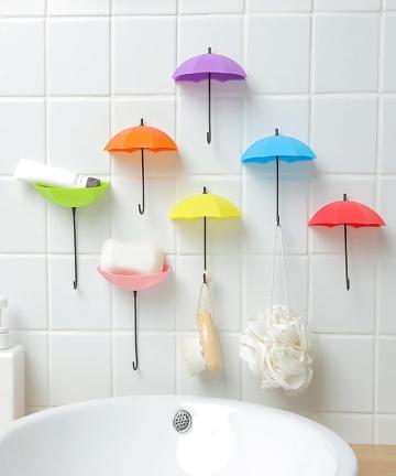 3pcs-Cute-Umbrella-Shape-Self-adhesive-Wall-Door-Hook-Bag-Keys-Hanger-Bathroom-Kitchen-Sticky-Rack-Clothing-Hook-Home-Supplies-1