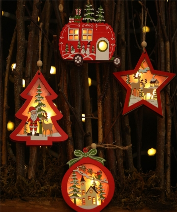 LED-Light-Christmas-Tree-Star-Car-Wooden-Pendants-Ornaments-Xmas-DIY-Wood-Crafts-Kids-Gift-for-Home-Christmas-Party-Decorations-