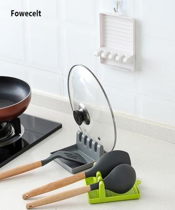 Fowecelt-Kitchen-Utensils-Spoon-Fork-Spatula-Plate-Rack-Dish-Drainer-Kitchen-Accessories-Storage-Cutlery-Organizer-Stand-for-Lid
