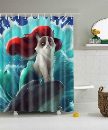 Waterproof-Shower-Curtain-For-Bathroom-Funny-Mermaid-Print-Bathtub-Curtains-Opaque-Polyester-Bathroom-Curtain-with-12-pcs-hooks-