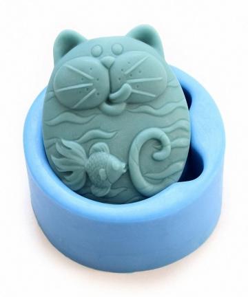 Non-Stick-Silicone-Mold-3D-Silicone-Soap-mold-DIY-New-Cat-Fish-Craft-Art-Silicone-Soap-mold-Craft-Mold-DIY-Handmade-Candle-mold-