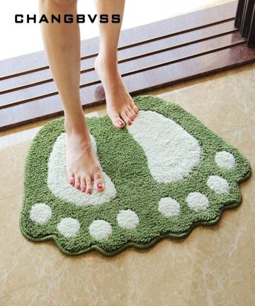 Foot-Print-Bath-MatsNon-slip-Bathroom-CarpetMat-Toilet-Tapete-Para-BanheiroBathroom-Rug-Bath-Pad-CarpetsMicrofiber-Mini-Mats-327