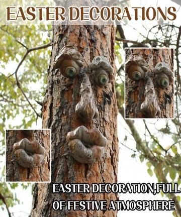 Bark-Ghost-Face-Facial-Features-Decoration-Easter-Outdoor-Creative-Props-Garden-Decoration-Outdoor-Easter-Jardineria-Decoracion-