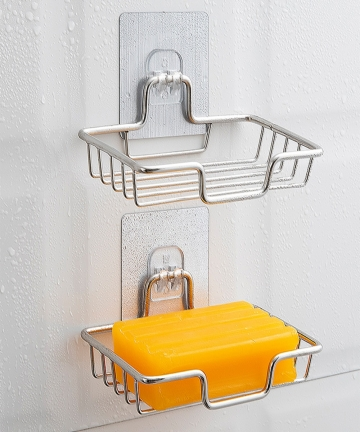 High-Quality-Soap-Rack-Wall-Mounted-Soap-Holder-Stainless-Steel-Soap-Sponge-Dish-Bathroom-Accessories-Soap-Dishes-Self-Adhesive-
