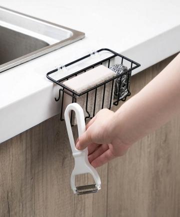 Wall-Mounted-Wrought-Iron-Sink-Rack-Pool-Rag-Draining-Shelf-Kitchen-Sink-Sponge-Storage-Rack-Holder-4000381716453