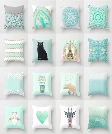 2020-Mint-Green-Pillow-Cover-Geometric-Print-Cushion-Covers-Pillow-case-Sofa-Cushion-Cover-4545cm-Decorative-Throw-Pillows-Case-