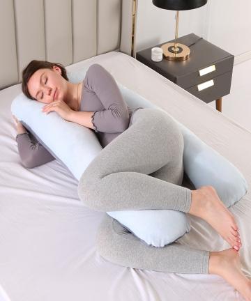 Pregnancy-Pillow-Bedding-Full-Body-Pillow-for-Pregnant-Women-Comfortable-U-Shape-Cushion-Long-Side-Sleeping-Support-Pillows-4001