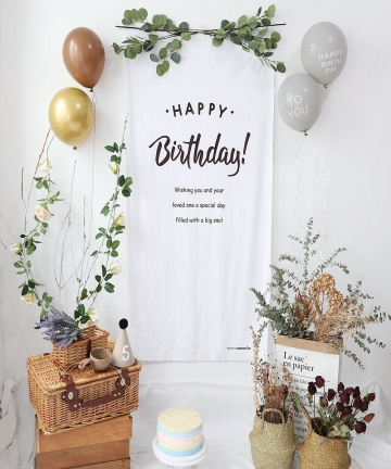 ins-birthday-decoration-100DAYS-High-quality-corduroy-fabric-background-childrens-room-wall-decoration-wall-hanging-Tapestry-100