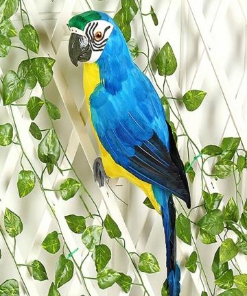 2535cm-Handmade-Simulation-Parrot-Creative-Feather-Lawn-Figurine-Ornament-Animal-Bird-Garden-Bird-Prop-Decoration-4000186515371