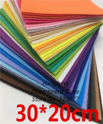 40pcs-3020-Mix-Colors-Non-Woven-Fabric-1MM-Thickness-Felt-Cloth-Polyester-Felts-For-Diy-Dolls-Toys-Crafts-Decoration-Exhibition-
