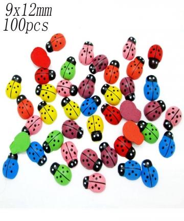 LF-100pcs-Mixed-Wooden-Ladybug-Flatback-Cabochon-Decoration-Handicraft-For-Scrapbooking-Cardmaking-Cute-DIY-Accessories-33022927