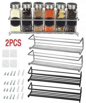 2PCS-Wall-Mount-Shelf-Organizer-Single-Layer-Seasoning-Hanging-Spice-Storage-Rack-for-Home-Restaurant-Kitchen-Bathroom-100500165