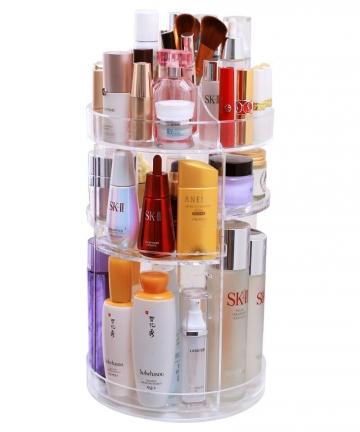 360-Degree-Rotation-Make-Up-Organizer-Box-Cosmetic-Organizer-Transparent-Fashion-Spin-Multi-Function-Detachable-Acrylic-40012687