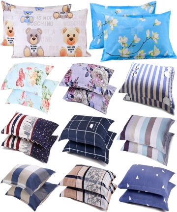 2PCS-Polyester-Sleeping-Pillowcase-for-Bedding-Modern-Nordic-Plaids-Striped-Pillows-Cases-Floral-Anime-4875CM-Rectangle-Pillow-4