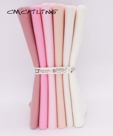 CMCYILING-25cmx28cm-6PcsLot-Patchwork-Soft-Felt-Fabric-For-Needlework-DIY-Sewing-Dolls-Crafts-Polyester-Cloth-4000786239717