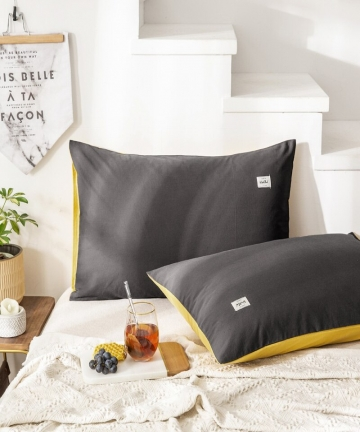 Solid-Color-2pcs-Pure-Cotton-Pillowcase-both-sides-Design-Classical-Pink-Yellow-Gray-Universal-Bedding-Sets-48x74cm-19x29inch-40