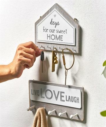 Wall-Hanging-Wood-Key-Hanger-Holder-Wall-Organizer-Rectangle-House-Shape-Key-Rack-Hooks-Coat-Hooks-Home-Decoration-Coat-Hanger-4