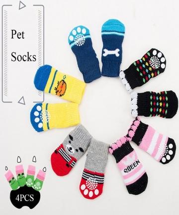 Free-Shipping-4Pcs-Warm-Puppy-Dog-Shoes-Soft-Pet-Knits-Socks-Cute-Cartoon-Anti-Slip-Skid-Socks-For-Small-Dogs-Pet-Products-SML-1