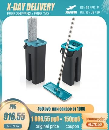 Floor-Mop-Bucket-Hand-Free-Household-Automatic-Flat-Floor-Mop-Kitchen-Home-Wooden-Floor-Cleaning-Microfiber-Pads-100500172136389