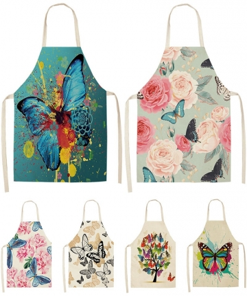 Butterfly-Printed-Pattern-Kitchen-Aprons-Cotton-Linen-5365cm-For-Women-Home-Cooking-Cleaning-Baking-Waist-Bibs-Pinafore-A1016-32