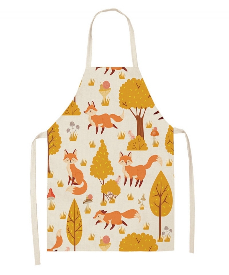 Leaves-Fox-Cat-Pattern-Apron-Woman-Adult-Children-Bibs-Home-Cooking-Baking-Shop-Cleaning-Apron-Kitchen-Accessory-4000508186687