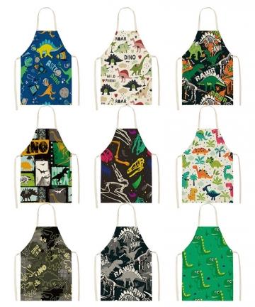 Cartoon-Dinosaur-Cute-Apron-For-Children-Kitchen-Cooking-Linen-Soft-Fabric-Adults-Children-Bib-Apron-4001210400250