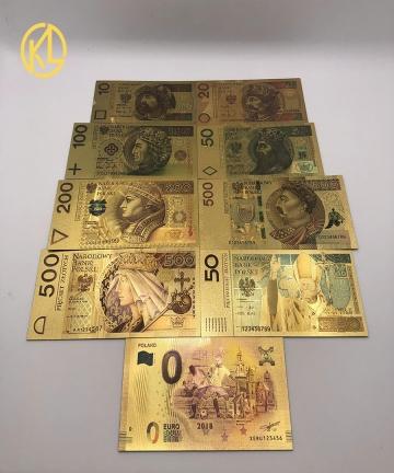 Colored-24K-Gold-Gold-Foil-Money-Gold-Foil-Polish-Banknote-Set10-20-50-100-200-500-PLN-for-partriotism-crafts-collection-3292282