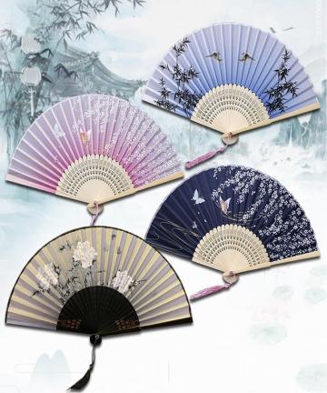 Chinese-Japanese-Folding-Fan-Wooden-Shank-Classical-Dance-Fan-High-Quality-Tassel-Elegent-Female-Fan-33056771977