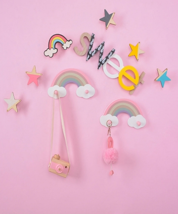 Nordic-Style-Childrens-Room-Wall-Hanging-Rack-Crafts-Display-Shelf-for-Kids-Girl-Room-Decorative-Storage-Holder-Clothing-Hanger-